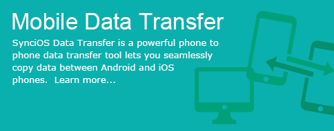 Syncios Data Transfer is a powerful phone to phone data transfer tool lets you seamlessly copy data between Android and iOS phones.