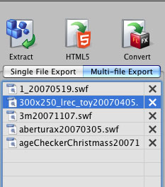 Decompile SWF to XFL - Single File Export