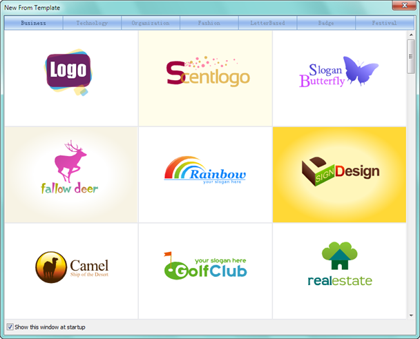select template to create png logo